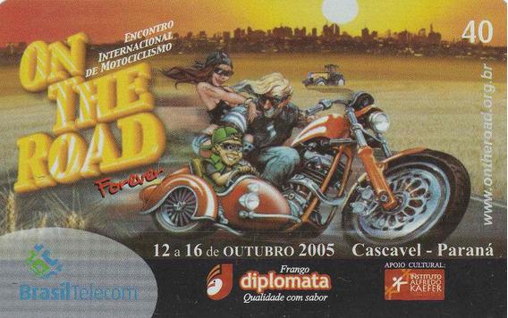 Cartão Telefonico On The Road - Cascavel Parana - Ai