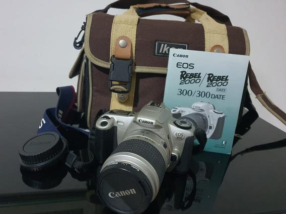 Câmera Analógica Canon Eos 300 Rebel 2000