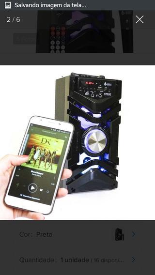 Caixa De Som Portátil Bluetooth Amplificada