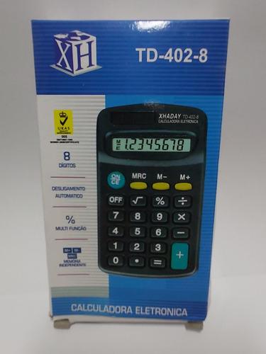 Imagem 1 de 2 de Calculadora De Bolso De 08 Dígitos Pequenas