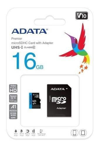 Cartão De Memória 16gb 1 Adaptador Cl 10 50/10 Mb/s Adata