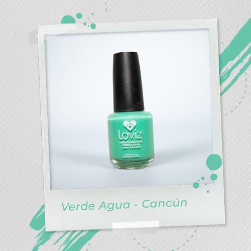Verde Agua - Cancún   Esmalte De Larga Duración De 15ml