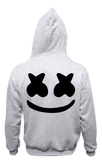 Campera Gris Para Chicos Dj Marshmello Electro Logo