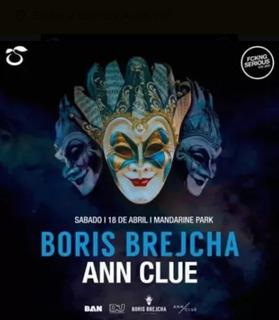 Entradas Boris Brejcha +ann Clue Mandarine Park 18 De Abril