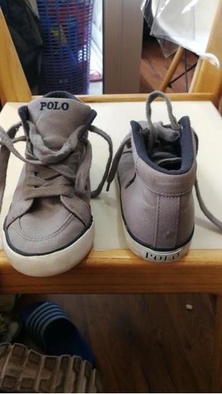 Zapatillas Botitas De Tela Polo Ralph Originales 32