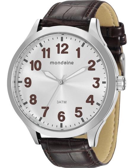 Relógio Mondaine Masculino Analógico Couro Original