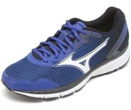 Tênis Mizuno Brave 2 N Azul Masculino Corrida Caminhada
