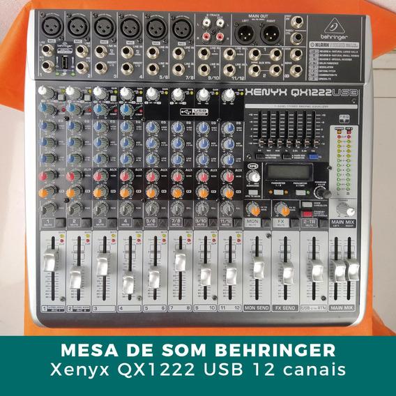 Mesa De Som Behringer Xenyx Qx1222 16 Canais Usb C/ Efeitos