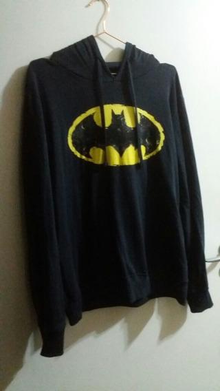 Moletom Casaco Inverno Unissex Original Batman Logo Gotham