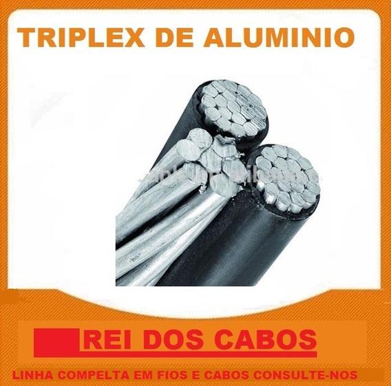 164 Mts Fio Cabo Bifasico Triplex 3 X 16 Mm De Aluminio