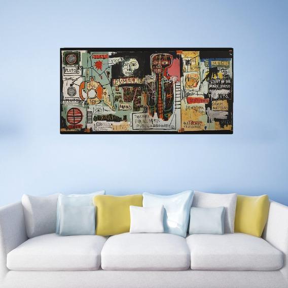 Quadro Decorativo Jean Michel Basquiat Pixo Graffite 1x0,5m