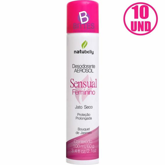 10 Desodorante Jato Seco Natubelly Cosméticos Bouquet Jasmim