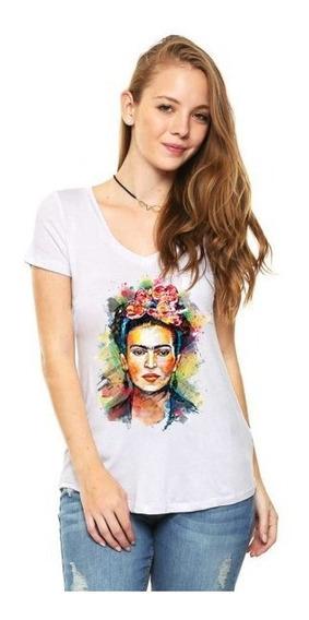 Playera Dama Personalizada Frida Kahlo Envio Gratis Msi