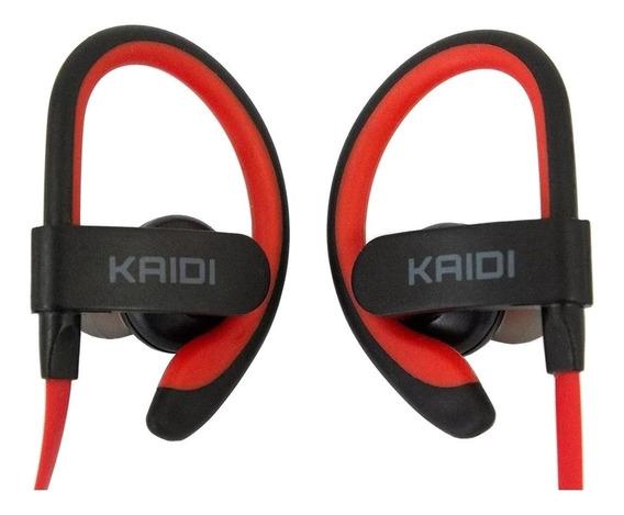 Fone de ouvido sem fio Kaidi KD-907 vermelho e preto