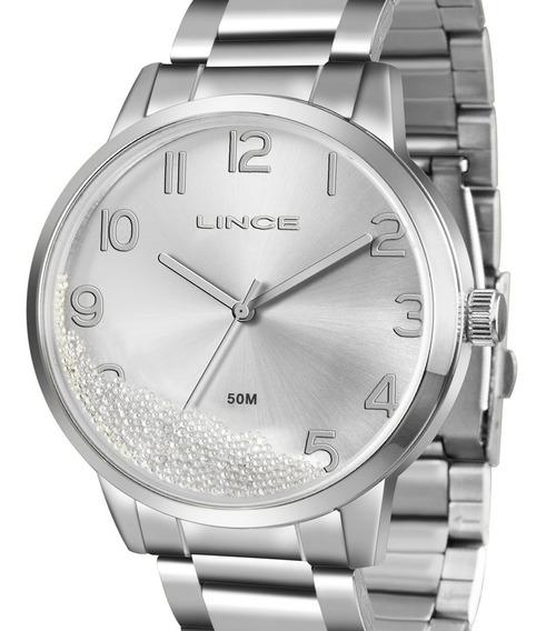 Relógio Lince Feminino Lrm4379l S2sx Prateado Com Nota
