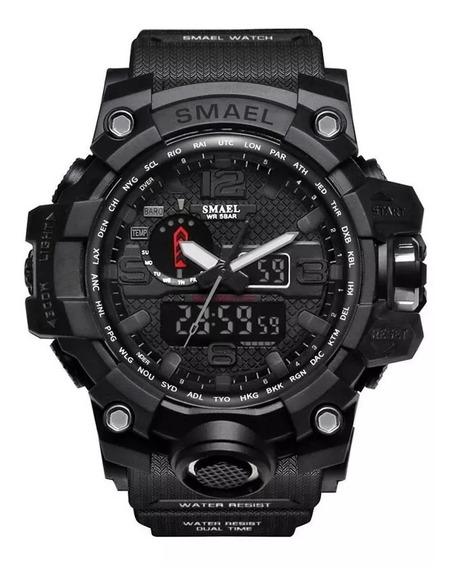 Relógio Masculino Esportivo Militar Shock 1545 Black Preto