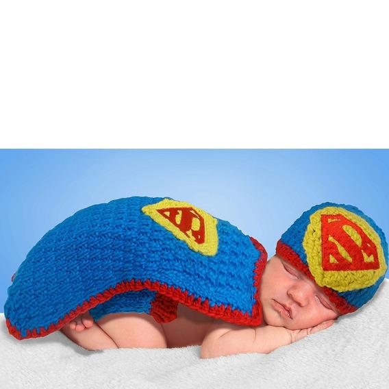 Fantasia Super Homem Bebê Crochet Dc Comics Original
