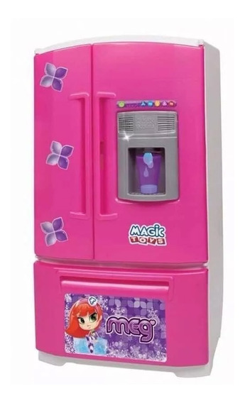 Geladeira Infantil Inverse Sai Água Na Porta Magic Toys