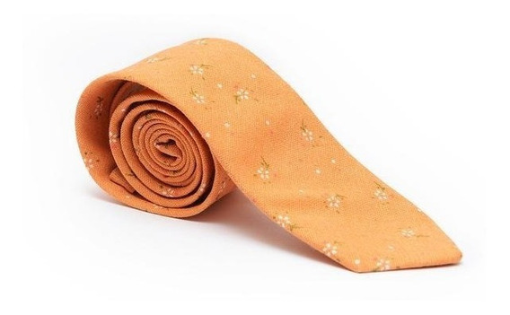 Corbata Algodón Naranja