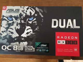 Tarjeta De Video Asus Rx 580 8gb Ddr5 256 Bits Disponible!