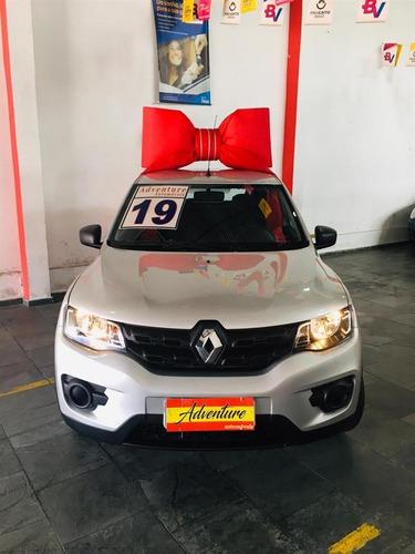 Renault Kwid  Zen 1.0 Flex Ano: 2019 Prata Completo Baixo Km