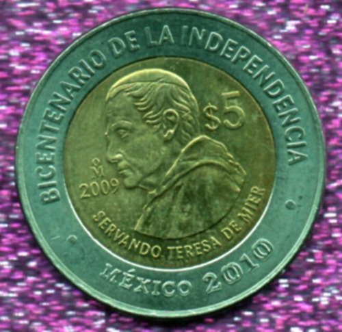 Imagen 1 de 4 de Moneda  Cinco Conmemorativas Servando Teresa De Mier  18  18