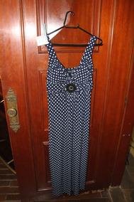 = Roupa Lote 556 Mulher Vestido Azul Bolinhas 8 En Focus Usa