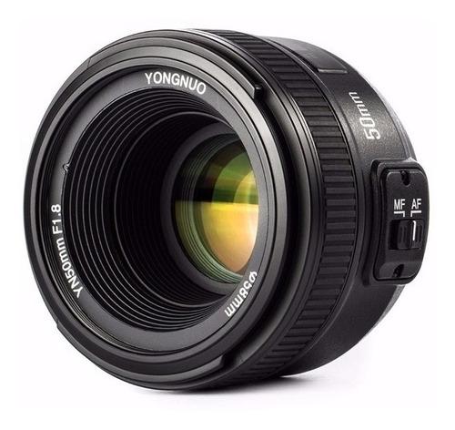 Imagem 1 de 5 de Lente Yongnuo Yn 50mm F/1.8 C/ Motor Af P/ Nikon + Filtro Uv