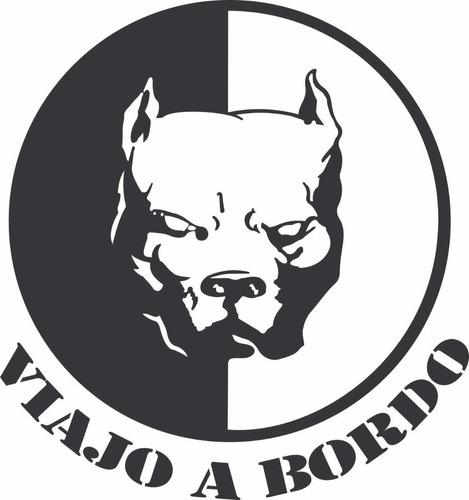 Imagen 1 de 2 de Calcomanía Pitbull A Bordo - Calcos Graficastuning