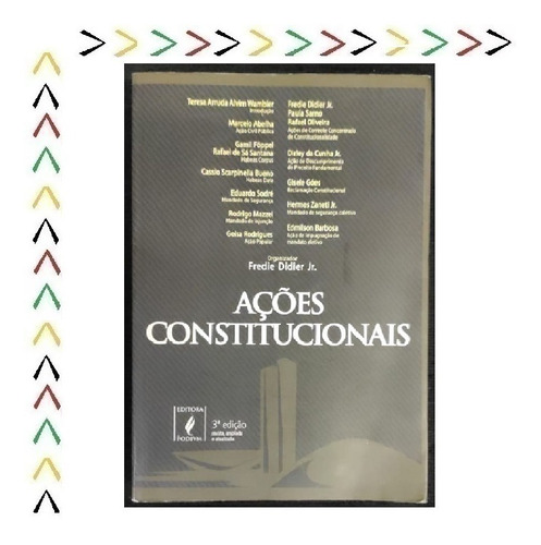 Livro Ações Constitucionais 3ª Edição Editora Podivm