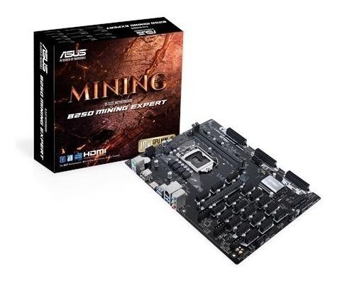 Placa Mãe Asus 1151 B250 Mining Expert Até 19 Vgas Mineração