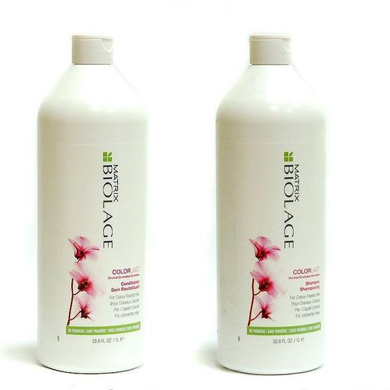 Shampoo Y Acondicionador De Litro Colorlast Matrix Loreal