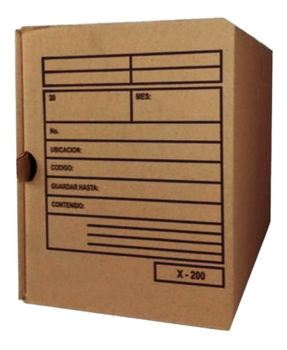Caja Para Archivos X200 Tipo Nevera Con Rotulo