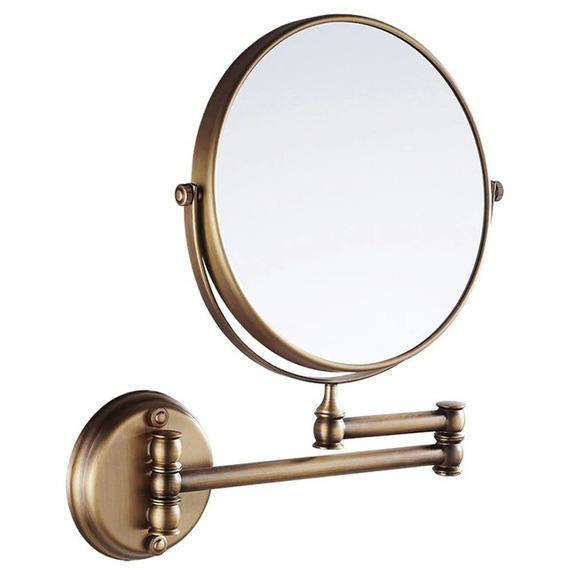 Espelho Duplo Articulado Parede Banheiro Com Aumento 3x