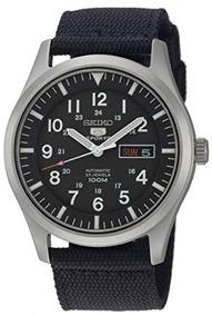 Relógio Seiko Automático Snzg15k1 Preto Prova D`água