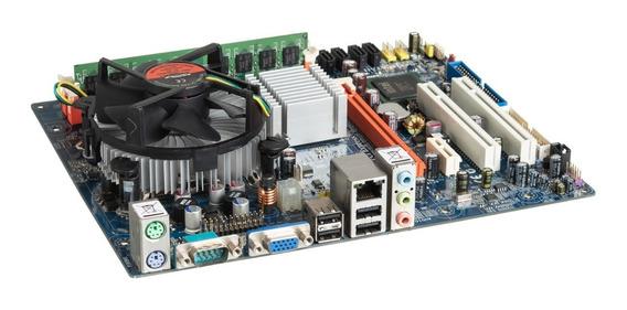 Kit Placa Mãe Mw-g31t-m7 + Intel Core 2 Duo + 2gb + Cooler