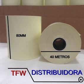 Kit 60 Bobinas Térmicas 80mm X 40metros Amarela Cupom Fiscal
