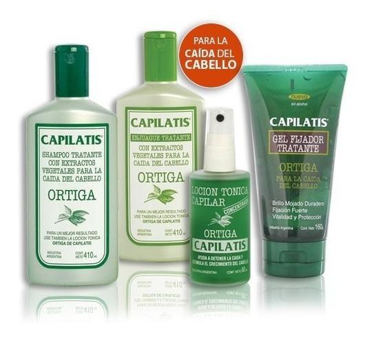 Anticaída Capilatis Ortiga Shampoo Enjuague Loción Gel
