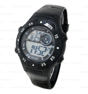 Reloj Knock Out Digital Sumergible Luz Alarma Niño M8848