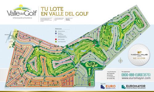 Imagen 1 de 4 de Venta Lote En Valle Del Golf