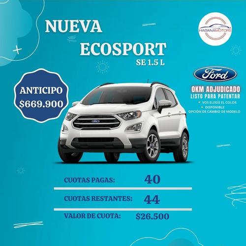 Ford Ecosport Se 1.5 Dragón Mt.