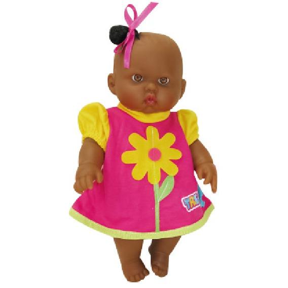 Boneca De Brinquedo Bebe Morena Fazendinha Horta Zap 1016