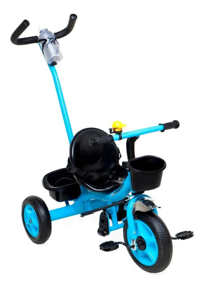Triciclo Con Manija Direccionable Tr46 Celeste (4576)