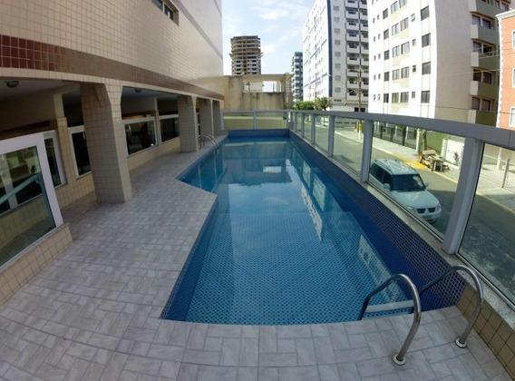 Apartamento Próximo Da Praia Com 2 Dormitórios Para Alugar, 100 M² Por R$ 2.100/mês - Ocian - Praia Grande/sp - Ap3307