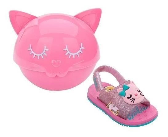 Sandália Infantil Menina Barbie Fashion Cat Baby