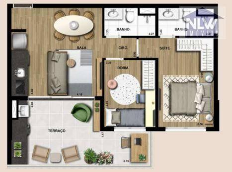 Imagem 1 de 30 de Apartamento À Venda, 65 M² Por R$ 1.016.375,00 - Campo Belo - São Paulo/sp - Ap3149
