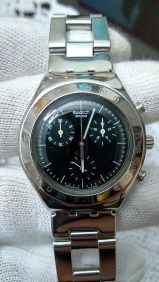 Relógio Swatch Irony V8 Cronógrafo Aço Swiss Made Feminino .
