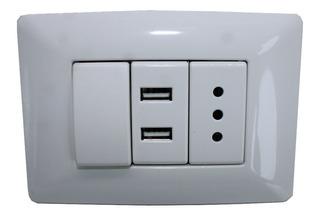 Enchufe Pared 220v. Usb Doble , Interruptor / Mitiendacl