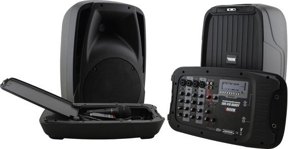 Kit Caixa De Som Amplificada Tipo Ecopower 300w C/ Mesa Som