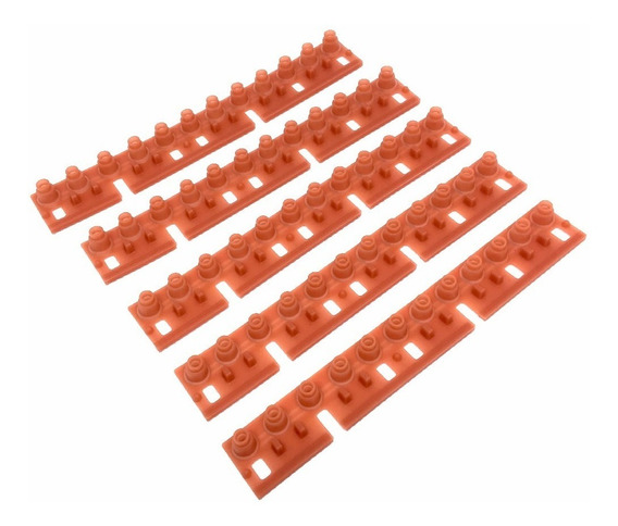 Kit C/ 5 Borrachas Contatos Originais P/ Teclado Psr3000